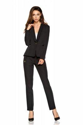 Damskie spodnie garniturowe L279B czarny