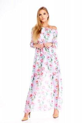 Sukienka maxi w kwiatowy wzór