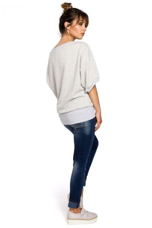 B048 bluzka popielata