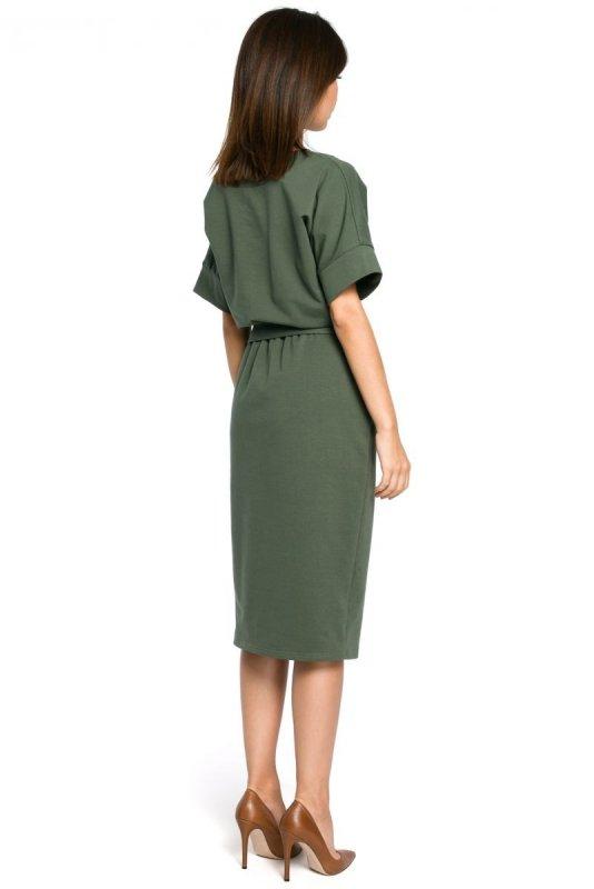 B062 sukienka khaki