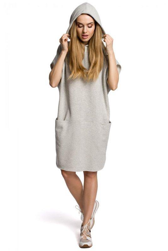 M368 Sukienka popielata