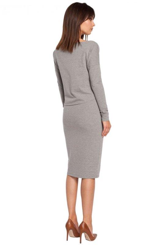 B001 sukienka szara