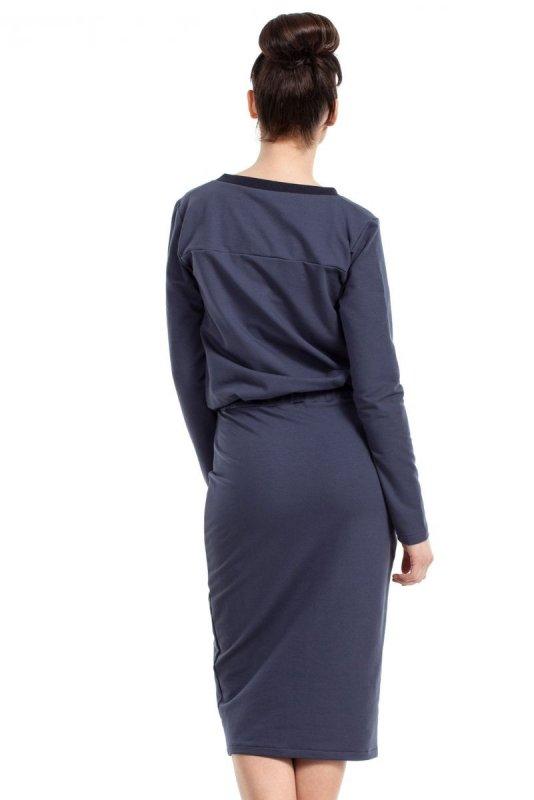 B024 sukienka niebieska