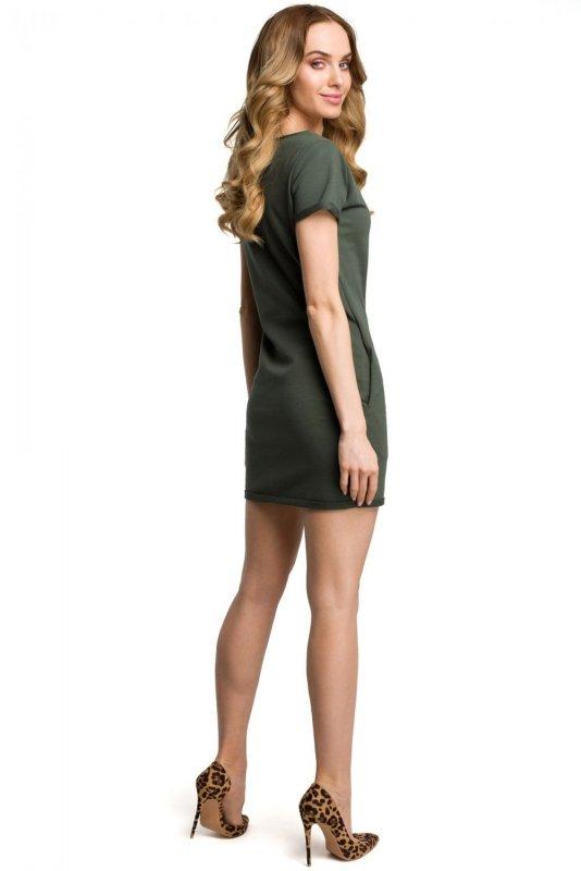 M374 Sukienka khaki