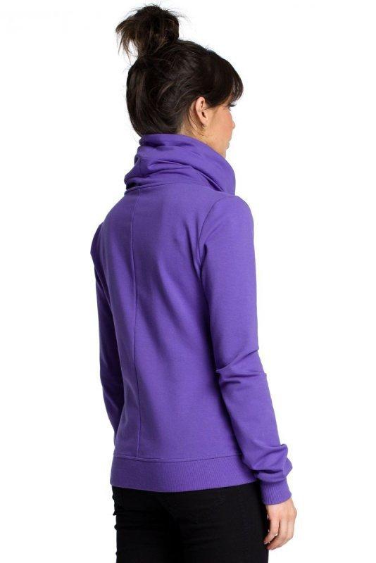 B071 Bluza z zamkiem fioletowa