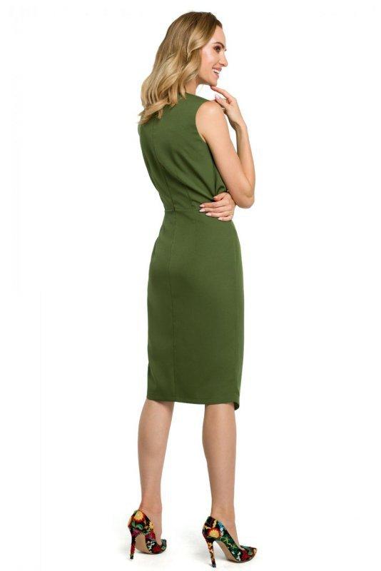 M395 Sukienka - zielona
