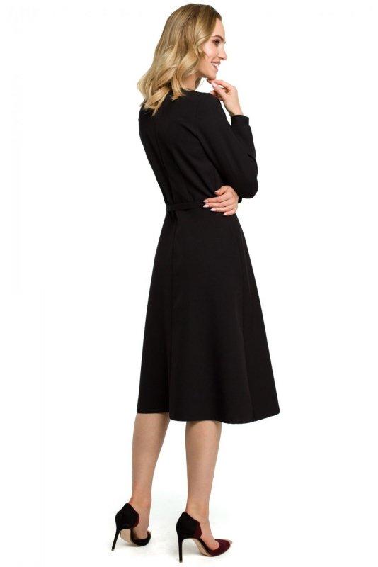 M398 Sukienka - czarna