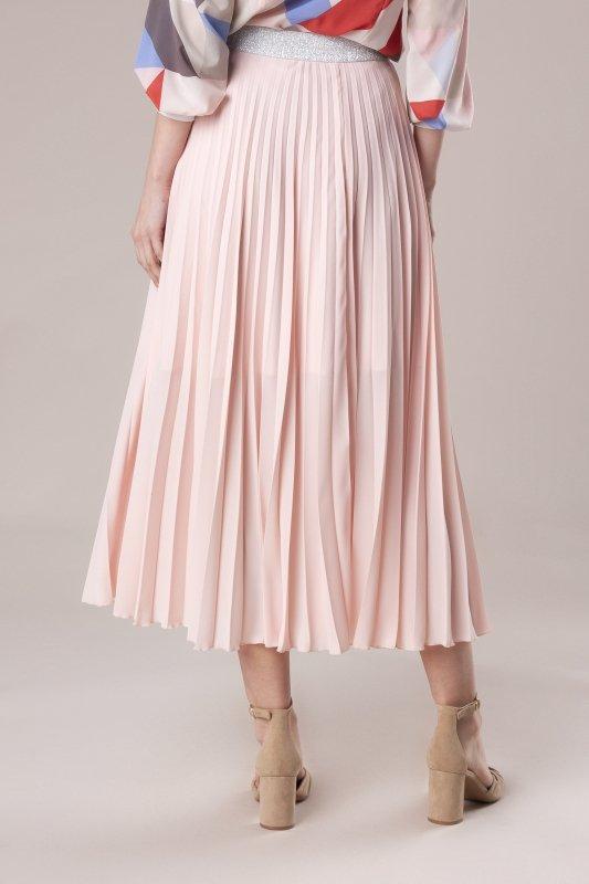 Plisowana spódnica ze srebrną gumą