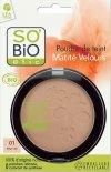 SO BiO organiczny puder w kompakcie Jasny Beż 01 10 g