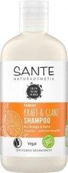 Sante Naturkosmetik FAMILY Szampon nadający połysk z bio-pomarańczą i kokosem 250 ml