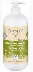 Sante Naturkosmetik FAMILY Szampon regenerujący z bio miłorzębemi bio oliwą  950 ml.