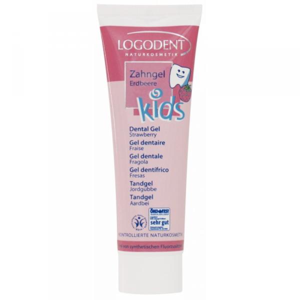 Logona KIDS Żel truskawkowy do zębów dla dzieci
