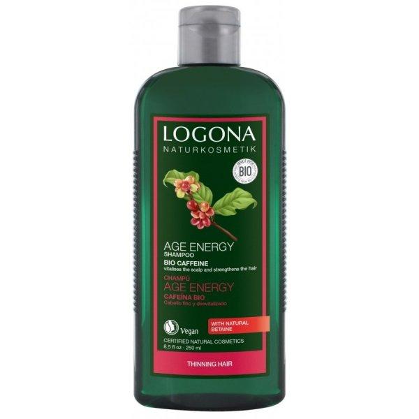 Logona Szampon Age Energy z bio-kofeiną i jagodami goji 250 ml.