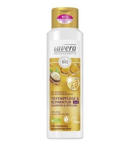 Lavera Szampon z odżywką do intensywnej regeneracji z bio-olejem migdałowym i bio-olejem makadamia 250 ml.