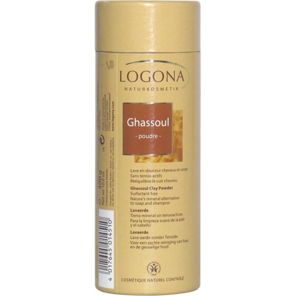 Logona LAVAERDE Brązowa glinka wulkaniczna sypka 300 g