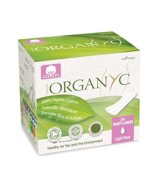 Organyc Ekologiczne wkładki higieniczne super cienkie z bio bawełny 24 szt
