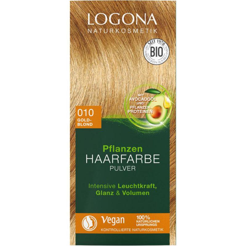 Logona Roślinna farba do włosów w proszku złocisty blond 010