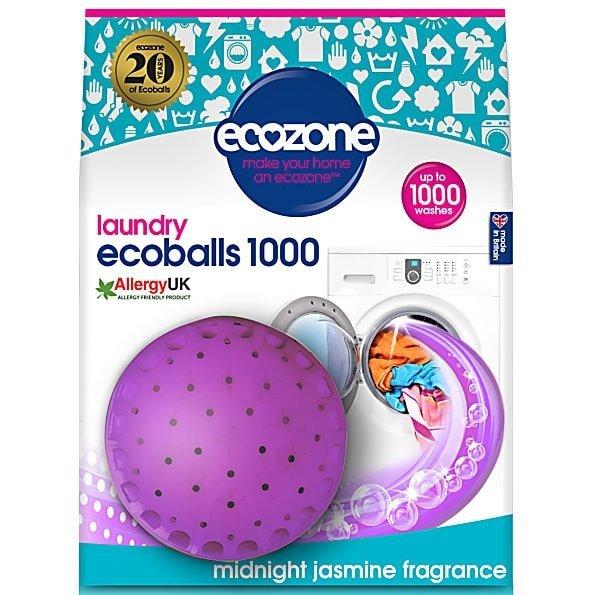 Ecozone Ecoballs kule piorące na 1000 prań, MIDNIGHT JASMINE, jaśminowy zapach,