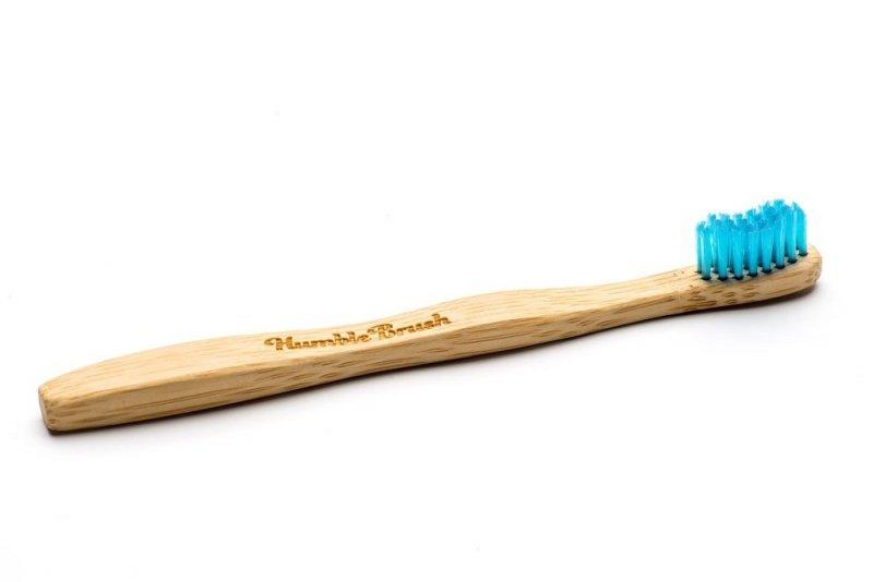HUMBLE BRUSH Ekologiczna szczoteczka bambusowa SOFT niebieska 19cm