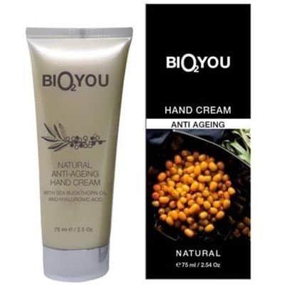 BIO2YOU przeciwstarzeniowy krem regeneracyjny do rąk z olejem z rokitnika i kwasem hialuronowym 75 ml