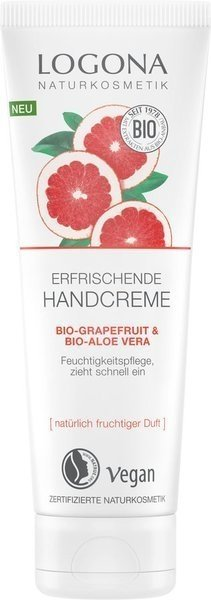 Logona Odświeżający krem do rąk z bio-grapefruitem i bio-aloesem