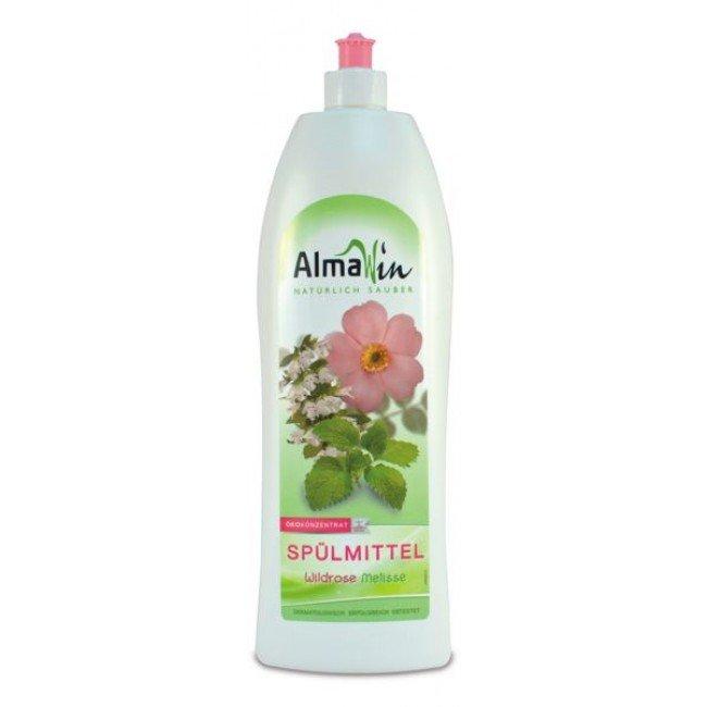AlmaWin Ekologiczny Płyn do mycia naczyń Dzika róża i melisa 500 ml.