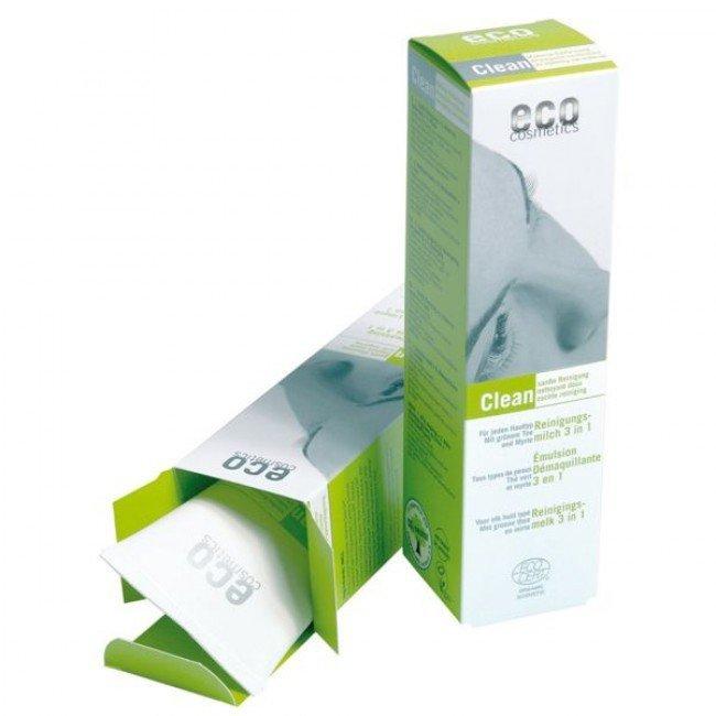 eco cosmetics Clean mleczko łagodnie oczyszczające do twarzy 3w 1/ 125 ml.