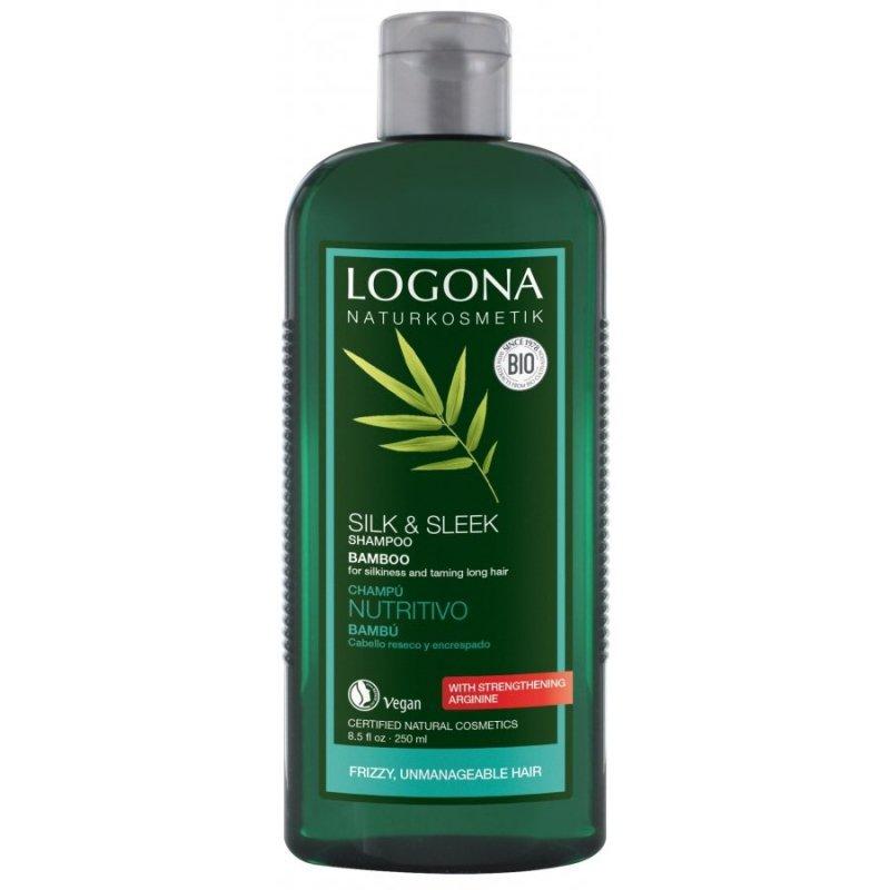 Logona Kremowy szampon z bambusem do włosów osłabionych i zniszczonych 250 ml.
