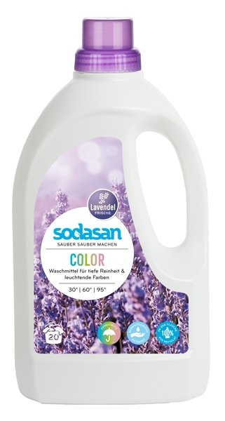 Sodasan Ekologiczny płyn do prania tkanin białych i kolorowych Lawendowy