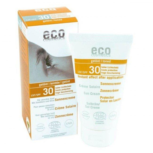 eco cosmetics tonowany krem na słońce SPF 30/ 75 ml.