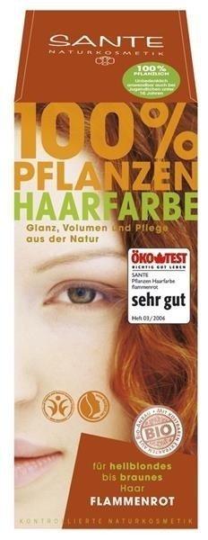 Sante Naturkosmetik Roślinna farba do włosów w proszku czerwony blond