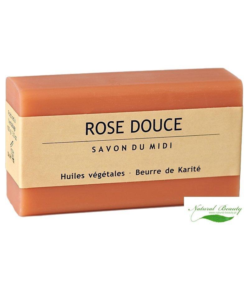 SAVON DU MIDI Prowansalskie mydło z masłem karité ROSE DOUCE/róża