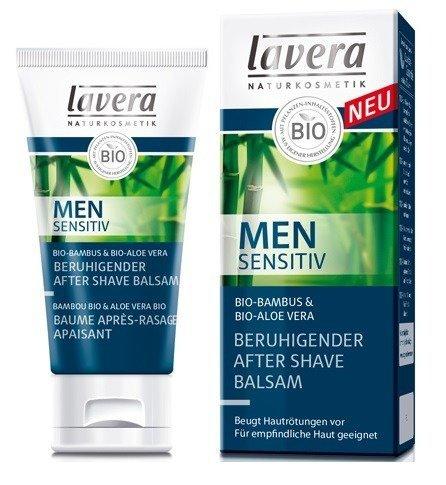 Lavera MEN SENSITIV Łagodzący balsam po goleniu  z bio-bambusem i bio-aloesem 50 ml.