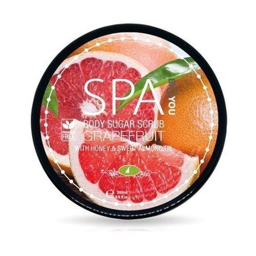 BIO2YOU SPA scrub cukrowy do ciała z miodem i olejem ze słodkich migdałów Grejpfrut 200 ml