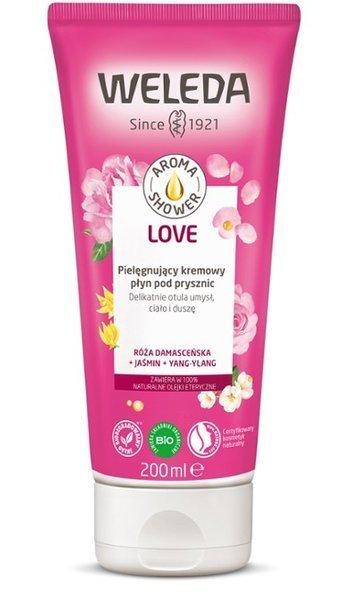 Weleda AROMA SHOWER LOVE Kremowy płyn pod prysznic RÓŻA+JAŚMIN+YLANG