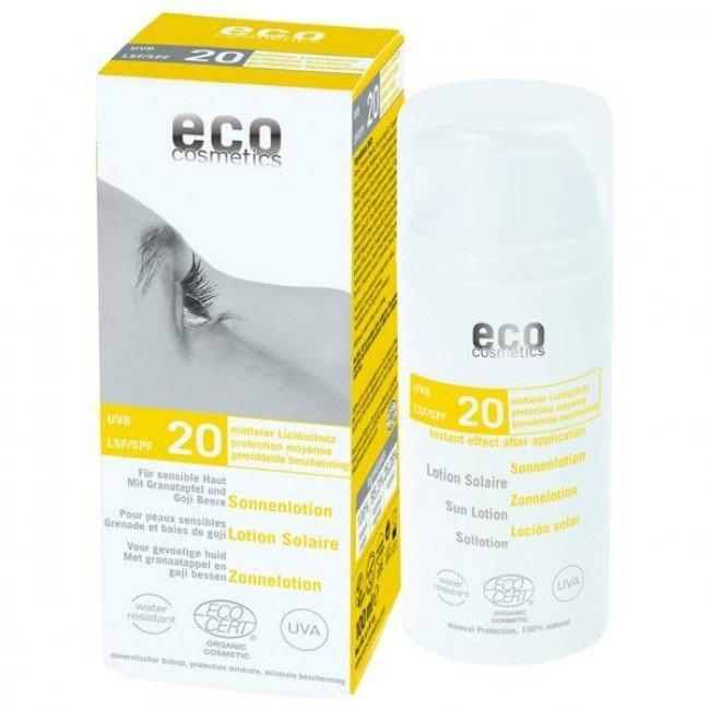 Eco Cosmetics Emulsja na słońce LSF/SPF 20 z granatem i owocem goji 100 ml