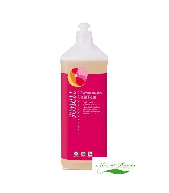 Sonett Ekologiczne Mydło w płynie Róża  1 litr