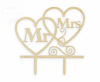 Topper drewniany  na tort Mr&Mrs
