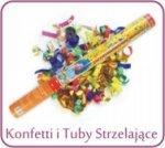 Tuby strzelające i konfetti urodzinowe