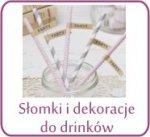 Słomki i dekoracje do drinków