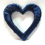 Serce styropianowe duże w kolorze granatowym
