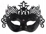 Maska na karnawał czarna z ornamentem