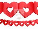 Girlanda bibułowa - serca czerwone 13x300 cm 1szt