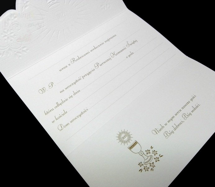 Zaproszenie Na I Komunię świętą Dla Dziadka 1szt Produkt Dostępny 3 Szt