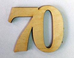 Cyferka  drewniana 70 - h-5,5 cm