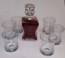 Karafka zestaw do whisky 7 częśći LIFESTYLE X