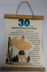 Dyplom bambus 30-tka Szanownego Pana