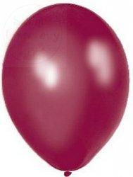 Balony 12 cali  - 27cm metaliczne bordowe 1szt
