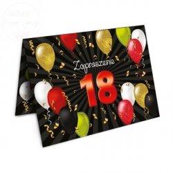 Zaproszenie na 18  urodziny Balony- 1szt
