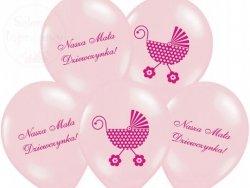 Balony różowe 14cali Nasza Mała Dziewczynka - 1s